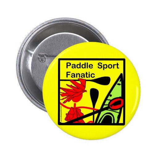 Diversión del fanático del deporte de la paleta pin redondo 5 cm