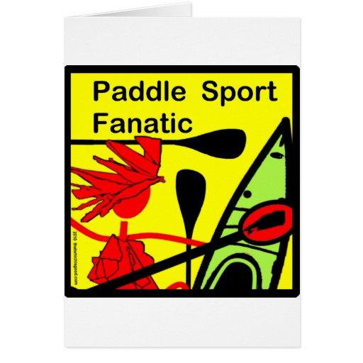 Diversión del fanático del deporte de la paleta tarjeta de felicitación
