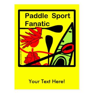 Diversión del fanático del deporte de la paleta postales
