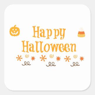 Diversión del feliz Halloween Calcomania Cuadradas Personalizadas