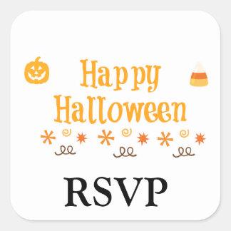 Diversión del feliz Halloween Calcomanías Cuadradass Personalizadas
