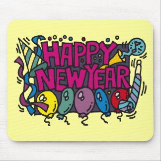 Diversión del fiesta de la Feliz Año Nuevo Alfombrilla De Raton