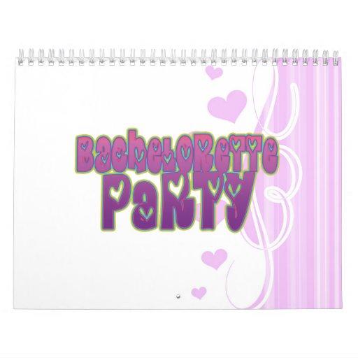 diversión del fiesta del bachelorette del corazón  calendarios de pared
