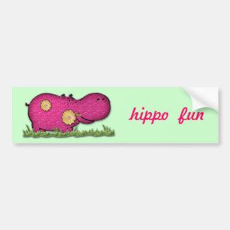 diversión del hipopótamo pegatina para auto