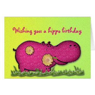 diversión del hipopótamo tarjeta de felicitación
