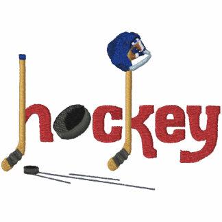 Diversión del hockey sudadera bordada con capucha