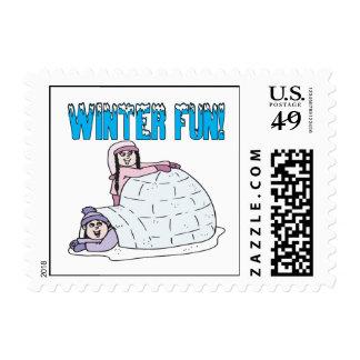 Diversión del invierno sello
