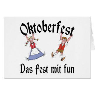 Diversión del Mit del Fest de Oktoberfest Das Tarjeta De Felicitación