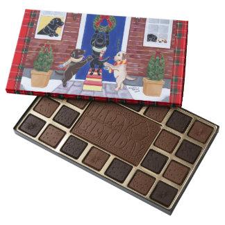 Diversión del navidad del labrador retriever caja de bombones variados con 45 piezas