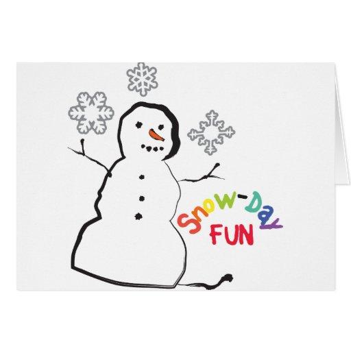 Diversión del Nieve-Día Tarjeta De Felicitación