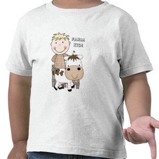 ¡Diversión del país! Cultive la camiseta del niño