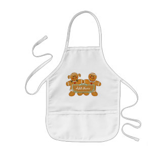 Diversión del pan de jengibre - personalizar delantal infantil
