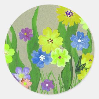 Diversión del pegatina del jardín de flores del