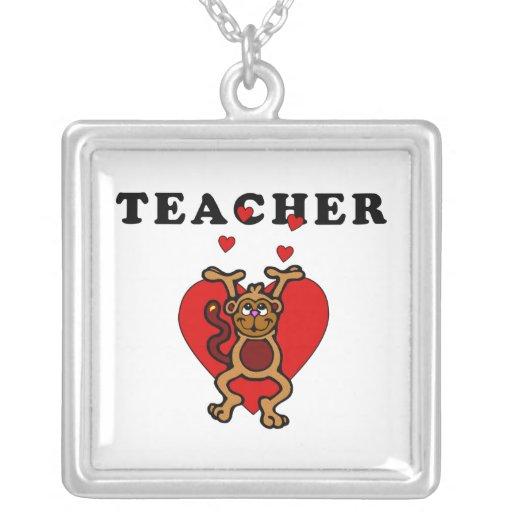 Diversión del profesor joyerias personalizadas