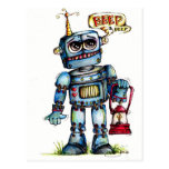 ¡Diversión del robot! Tarjetas Postales