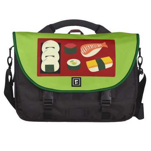 Diversión del sushi bolsas de ordenador