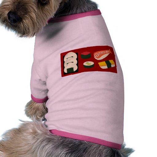 Diversión del sushi camisas de perritos