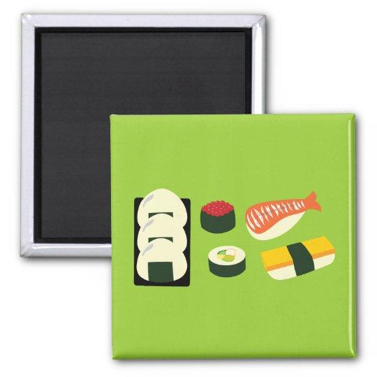 Diversión del sushi imán cuadrado