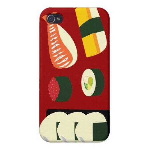 Diversión del sushi iPhone 4 carcasa