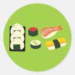 Diversión del sushi pegatinas