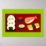Diversión del sushi posters
