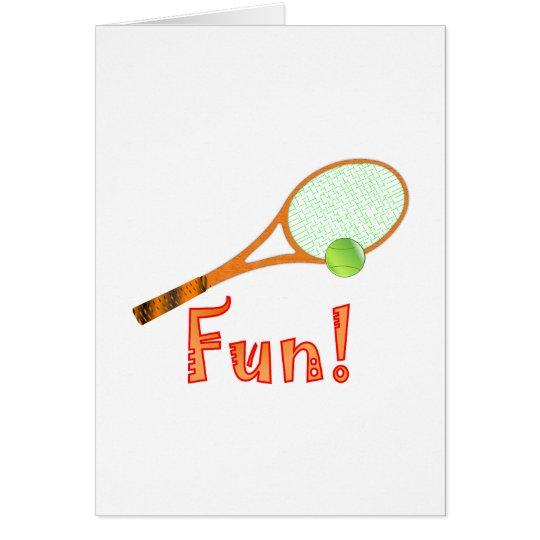 Diversión del tenis tarjeta de felicitación