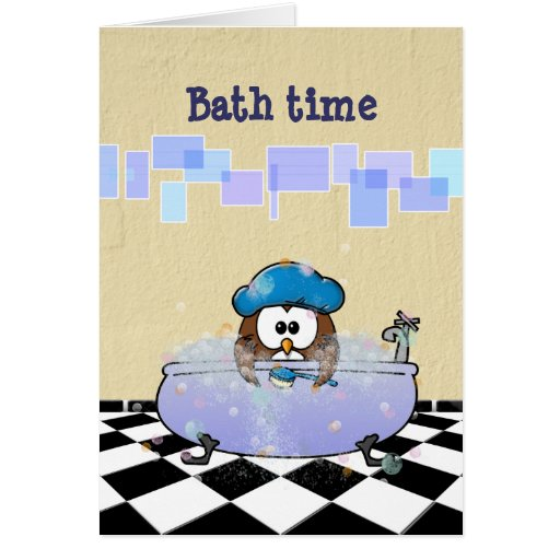 diversión del tiempo del baño felicitaciones
