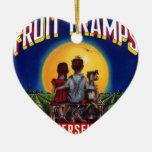 Diversión del vagabundo de la fruta ornamentos de navidad