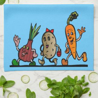 diversión del veggie toalla