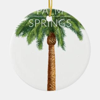 Diversión del verano del día de fiesta del Palm Adorno Navideño Redondo De Cerámica