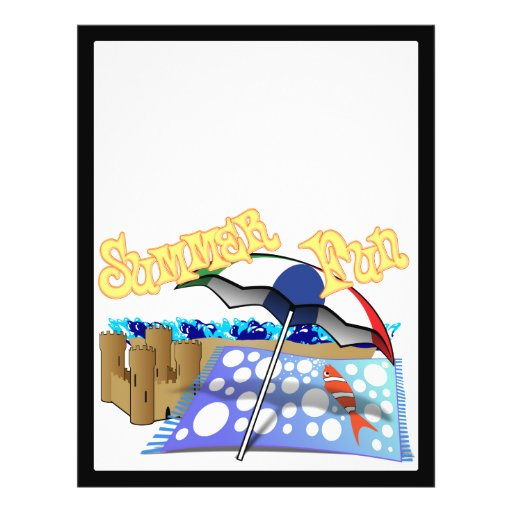 Diversión del verano en la playa tarjetas publicitarias