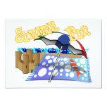 Diversión del verano en la playa invitación 12,7 x 17,8 cm