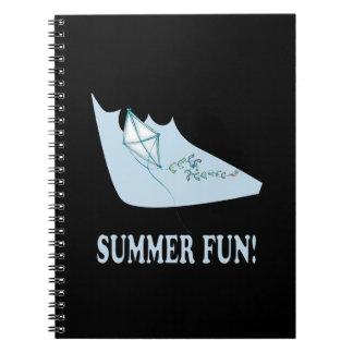 Diversión del verano libros de apuntes con espiral