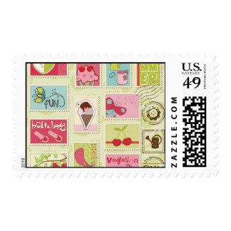 Diversión del verano sellos
