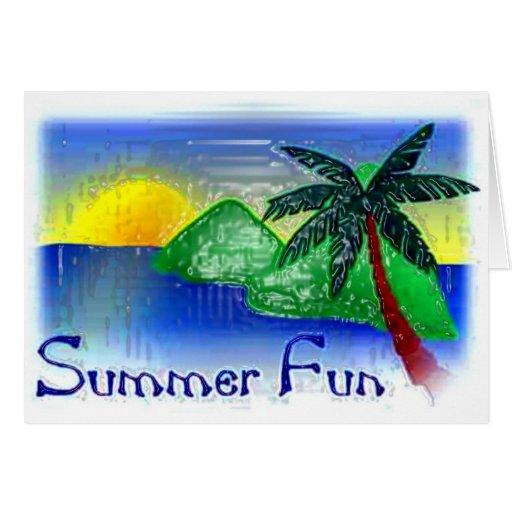 Diversión del verano tarjeta de felicitación