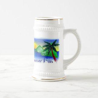 Diversión del verano taza de café