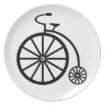 Diversión del vintage - bici plato de comida