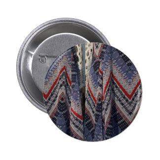 Diversión diy de la moda de la tela del vestido de pin redondo de 2 pulgadas