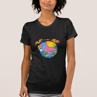 Diversión en el flamenco de Sun Camisetas