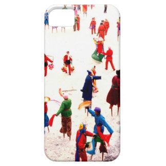 Diversión en el hielo, baile chino del zanco iPhone 5 cárcasa