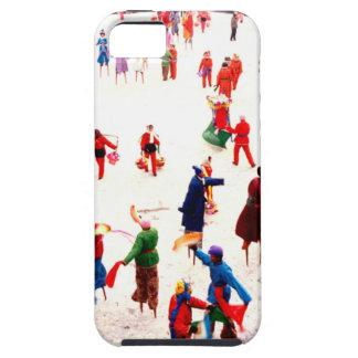 Diversión en el hielo, baile chino del zanco iPhone 5 Case-Mate coberturas