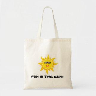 Diversión en el sol bolsa tela barata