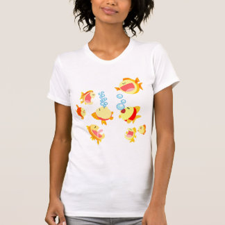Diversión en la camiseta de las mujeres del dibujo playera