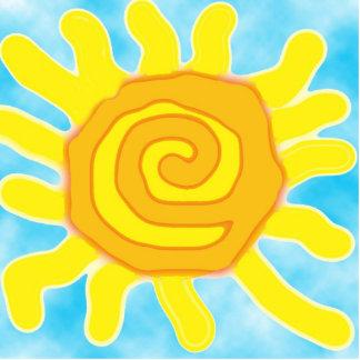 ¡Diversión en la escultura de la cartulina de Sun! Fotoescultura Vertical