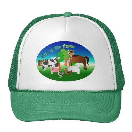 Diversión en la granja gorras