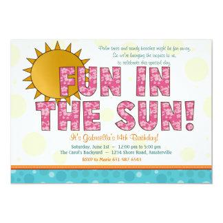 Diversión en la invitación de Sun Invitación 12,7 X 17,8 Cm