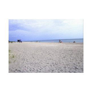 Diversión en la playa impresión en lona estirada