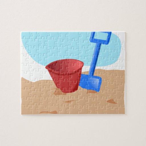 Diversión en la playa puzzles