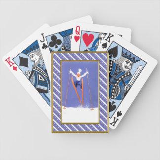 Diversión en los esquís barajas de cartas