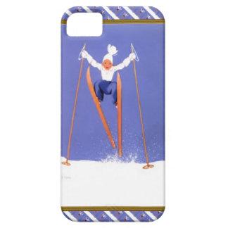 Diversión en los esquís funda para iPhone 5 barely there